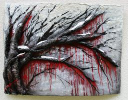 Weeping Willow Painting by LittleShopOfLostArts