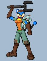 Bubbles and Yawning Squirtle as Ratchet and Clank by neyola298