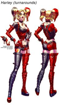 Harley ArkhamCity final pass by Chuckdee