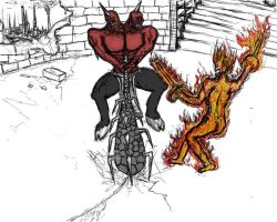 Eyedoll vs Cinder wip by TheWiseWeirdProphet