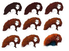Hair tutorial - Merida by ryky