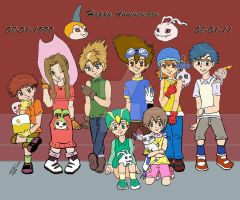 Digimon 12th Anniversary by Lady-RyuuXX87