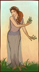 Daphne: In the Style of Alphonse Mucha by andi-scribbles
