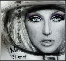 Christina Aguilera drawing by mcglory