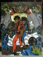 THRILLER painting 2012-2013 by ajacqmain