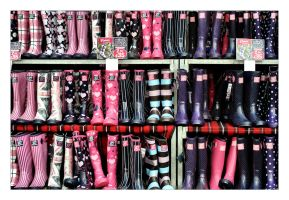Wall of Wellies by Bogbrush