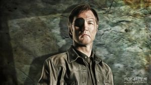 TWD: The Governor: Anisotropic Paint Desktop by nerdboy69
