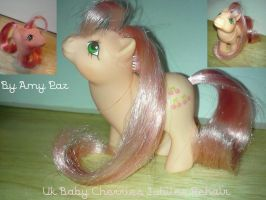 Baby Cherries Jubilee My Little Pony Uk Rehair G1 by Amyatpebble