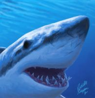 Sharky Speed Paint by digital-blood