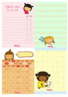 Pigtails: Stationery by jazgirl