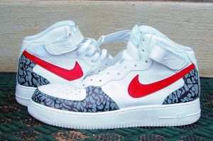 custom air force 1's by mdaissickwithit