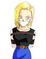 Android 18 Tied Up & Gagged 2 (Render) by songokussjsannin8000