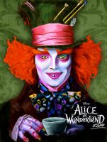 Mad Hatter colored version by VPdessin