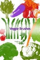 Veggie Photoshop Brushes by colormist