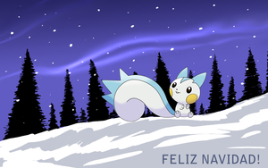 Pachirisu on christmas day by Thunderwest