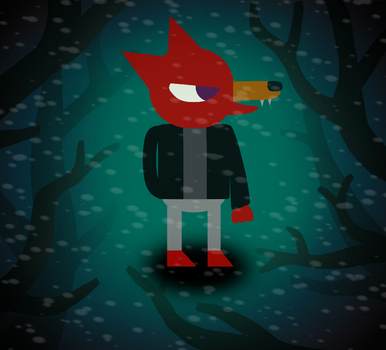 Night In The Woods Art Style Corbin by foxgamer383
