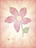 Flower _ Typography by REALISM2009