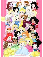 Chibi-princess-girls Disney by rebenke
