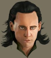 WIP- First digital portrait - Loki by Besaid