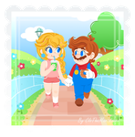 .:A stroll through the path of flowers:. by CloTheMarioLover