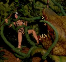 Savage Beauty vs Carnivorous Plant: Part 1 by billvolc