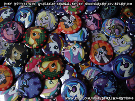 My Little Pony: FiM Pony Buttons by NikkiWardArt