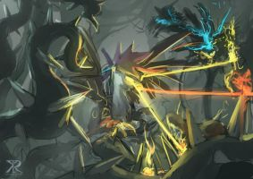 Robofeather vs the Everfree by Raikoh-illust by Q99