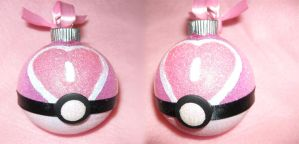 Pokeball Love Ball Ornament by LethalPepsi