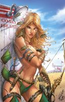 Zenescope's Robyn Hood #1 Exc., J. Tyndall by sinhalite