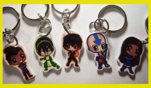 Avatar: The Last Airbender Keychains by IcyPanther1