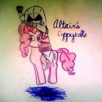 Altair and PINKIE PIE by Ratonhntake