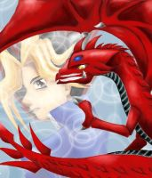 Slifer and Yami Yugi by yamirenamon