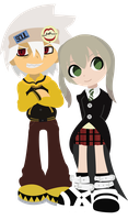 Soul and Maka by Berri-Blossom