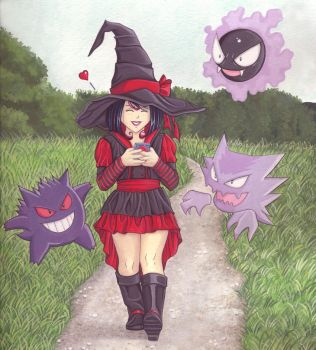 Eve: The 2nd Little Witch and Ghost Pokemon! by Yamigirl21