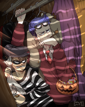 Happy Halloween...!! - Mordecai x Rigby - by NathyLove5