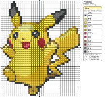 25 - Pikachu by Makibird-Stitching