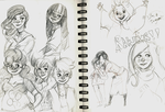 mlp sketches by Voltam-Keleten