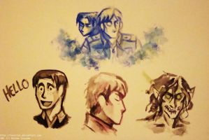 Snk Watercolor Doodles by Tavoriel
