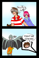 FIGHT ME COWARD - A Chuggaaconroy fan comic strip by deviousDEVl