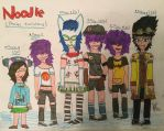 Noodle and her evolution by surimix