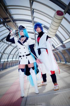 Esdeath e Susanoo by MarinyanCosplay