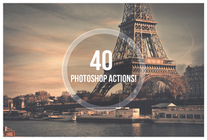 Bundle Actions 40 Photoshop Actions! by ShekFilters
