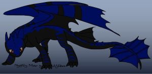 My night fury character by BLUEvsFIN