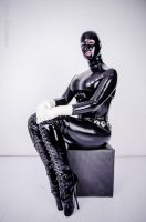 Hot black Latex in Winter II by latexraven