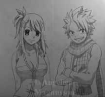 Lucy Heartfilia and Natsu Dragneel from Fairy Tail by AnkaaaaPORR