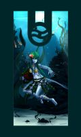 bagpipe underwater by barbariank