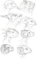 Altair - Draconian Heads by amygirlgermanpants