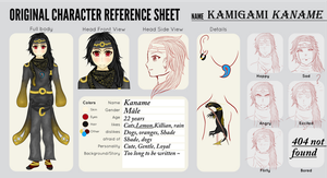 Kaname New Design + ref sheet by Ace-Of-Shadow