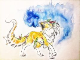 .:Light Howl:. by WhiteSpiritWolf