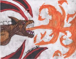 kyuubi study: 8 tails fire breath by ChahlesXavier